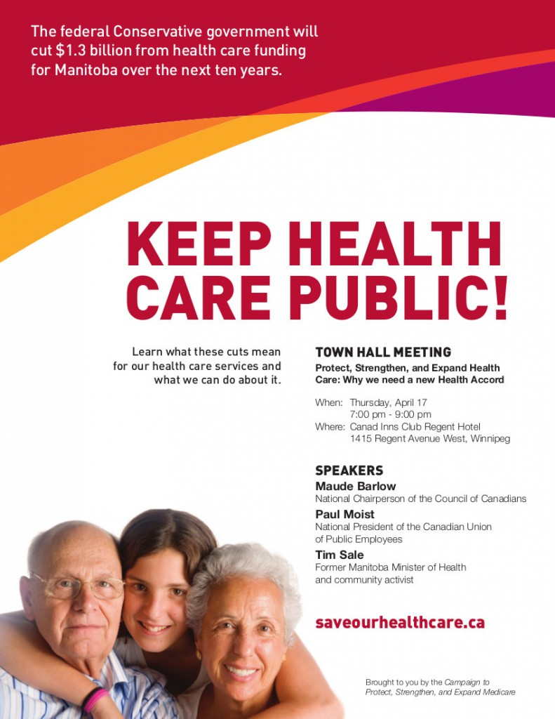 Manitoba Town Hall poster 2